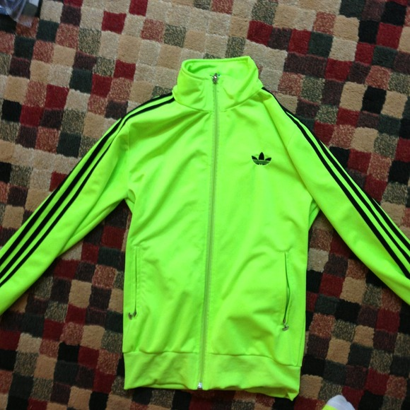 125a79db36bc Adidas Jackets   Blazers - neon yellow adidas track jacket
