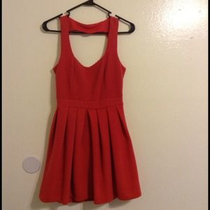 Dresses & Skirts - **RESERVED**Red orangish skater cutout dress
