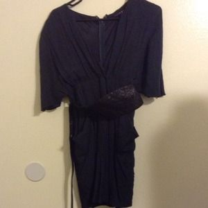 Dresses & Skirts - ❌TRADED❌Dark blue kimono style dress with belt