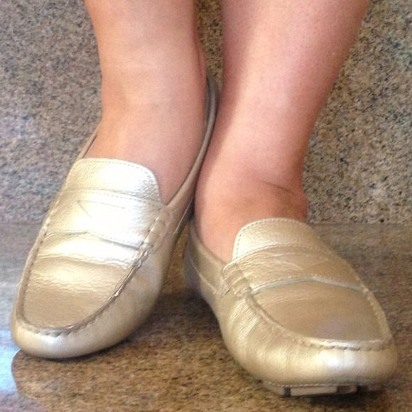 14686a244ab Cole Haan Shoes - 🔴FREE Shipping👠Cole Haan Gold Metallic Loafers👠