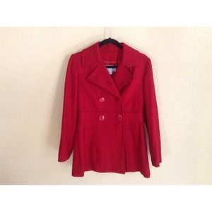 PO Delia's/Alloy Red Double Breasted Trench Coat!