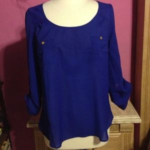 Royal blue top NWOT