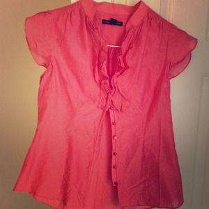 Banana republic mauve pink blouse