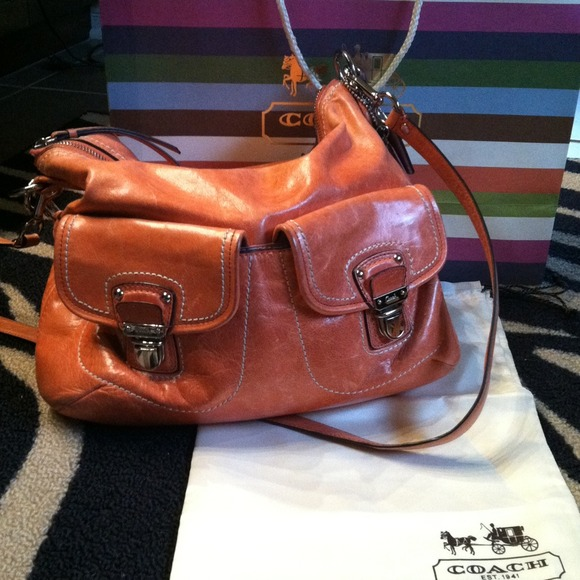 Coach Handbags - 🌺Authentic Tangerine Coach Purse