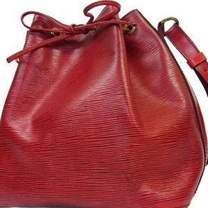 Authentic Louis Vuitton Epi Petit Noe Red