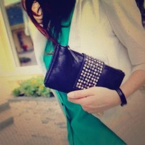 Clutches & Wallets - 🎉HOST PICK🎉 Studded Faux Leather Clutch/Wristlet