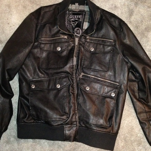 Guess Jackets Amp Coats Mens Aviator Bubble Jacket Black