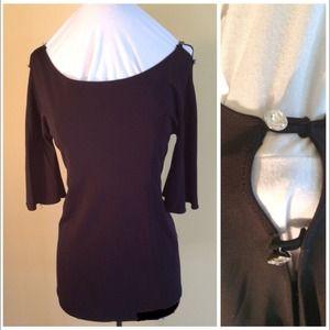 Black blouse with diamond detail