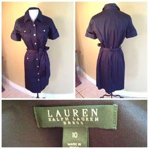 Ralph Lauren belted cargo dress