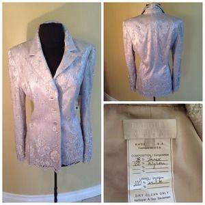 Vintage Badgley Mischka silk jacket