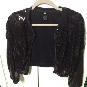 H&M Jackets & Blazers - H&M sequined jacket. Super cute!