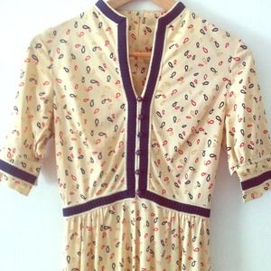 Vintage 60s Jesus fish dress