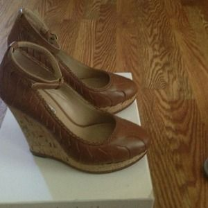 "Charles David brown platform . REDUCE""• $50.00"