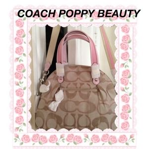 Sale take $35 off Coach Poppy Metallic