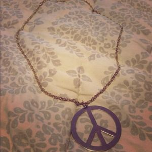 Jewelry - Gold Peace Sign Necklace