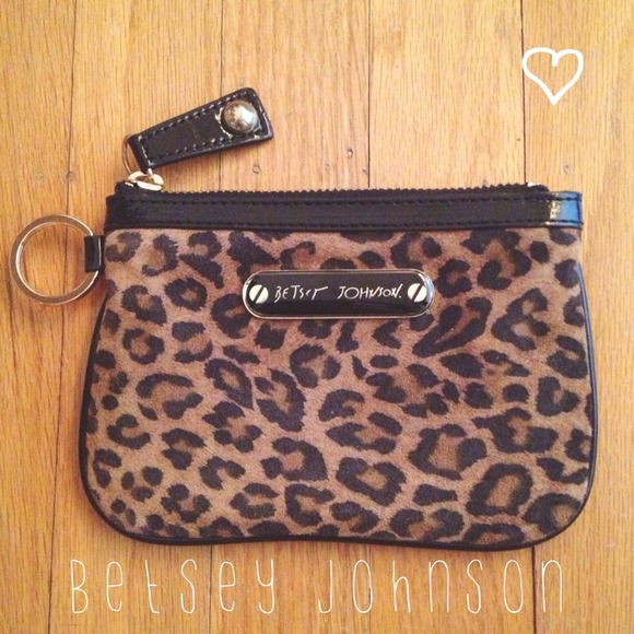 Betsey Johnson Clutches & Wallets - Betsey Johnson Leopard Keychain Wallet