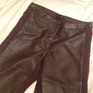 Pleather Chocolate Brown Pants