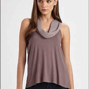 HOST PICK🍭Ella Moss Purple/Gray Cowl Neck Top NWT