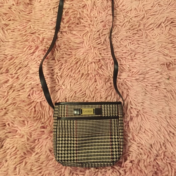fe922d9b84 ralph lauren houndstooth vintage cross body bag