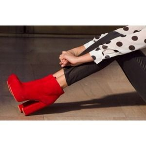 Dolce Vita Jemma Boot - Red Suede