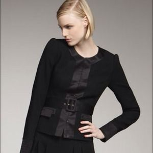 🎀HOST PICK🎀 Rachel Zoe Black Belted Jacket 8 NWT