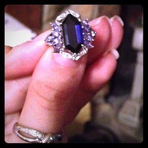 Jewelry - Iolite and tanzanite white gold ring.