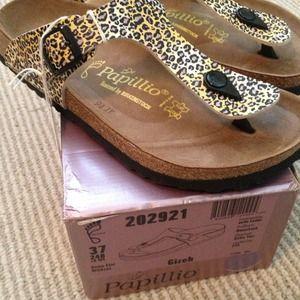 88714268c9d1 Papillio Shoes - Papillio leopard Gizeh sandals Birkenstock sz 37