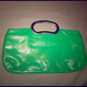 Handbags - ☃ Green Clutch with handle. New York & Co