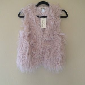 Fur light pink Vest