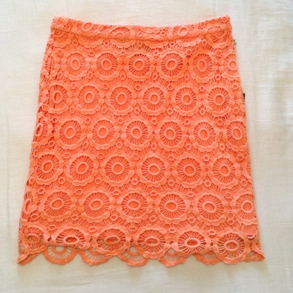 NWT Peach crochet skirt