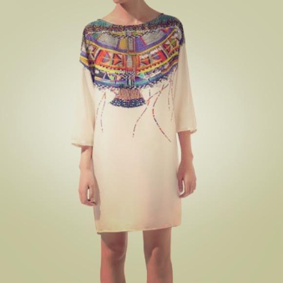 Zara Printed Tunic Top Sz XS