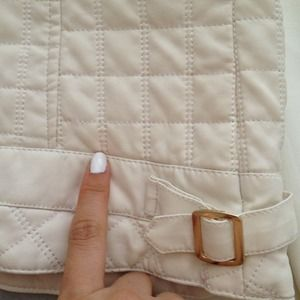 Zara Jackets & Coats - Zara White faux leather zip up 4