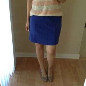 Loft blue work skirt