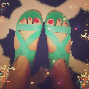 Kelsi Dagger Shoes - (Reduced) - Kelsi Dagger Mint Sandals