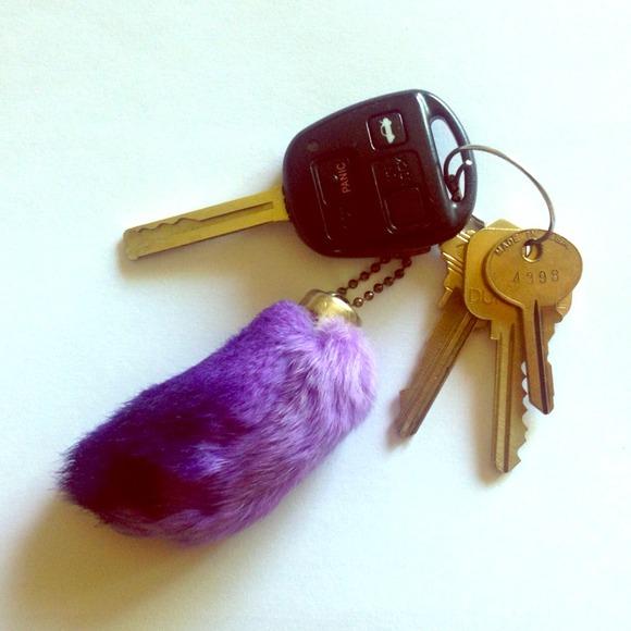 Accessories - Purple Ombré Lucky Rabbit s Foot Keychain 12ffb28bdc
