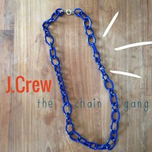 Host PickJ Crew resin necklace, royal blue