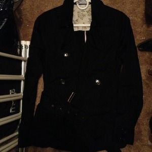 Old Navy Jackets & Blazers - Black old navy cotton short trench jacket