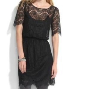 🎉HP! 🎉 Madewell/Eliot black lace dress