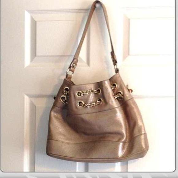 Elaine Turner Bags - Elaine Turner Gold Alexis Leather Handbag