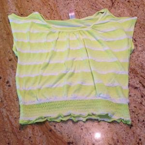 Cute summer top bright yellow