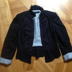 ⚡REDUCED⚡Zara Navy Blue Nautical Jacket Blazer
