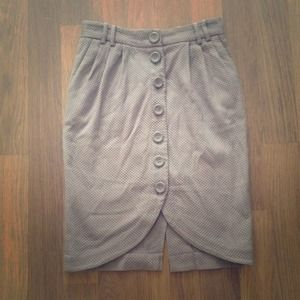 BUNDLED H&M tulip taupe button up pencil skirt