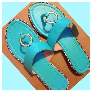 Shoes - Cute Sandal with Animal Print Ring around sole