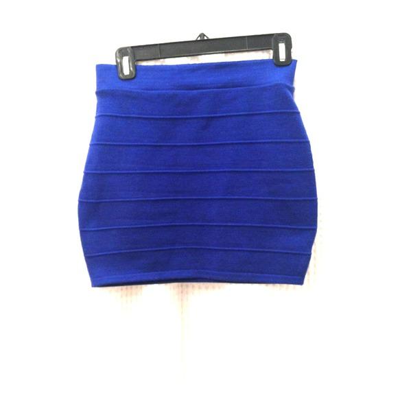 Royal Blue Bandage Mini Skirt M from 🌺sara's closet on Poshmark