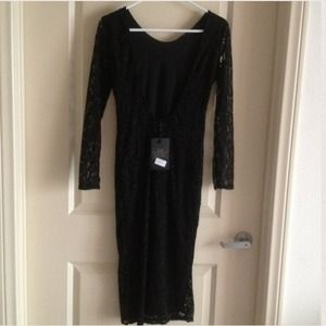 Beautiful !  net black dress By misguided Size 4.