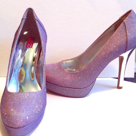 23 off shoes purplepink sparkly high heels from becca