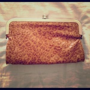 REDUCEDLeopard Print Wallet/Clutch