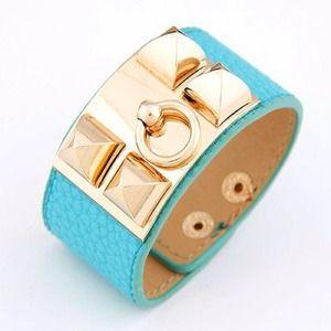 Host Pick  Light Blue Studded Bracelet