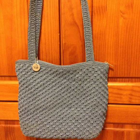 The Sak Bags Crochet : 76% off The SAK Handbags - The SAK Blue Crocheted Handbag from ...