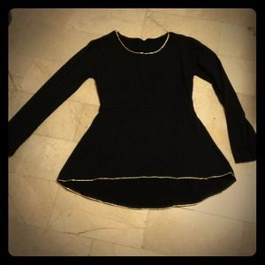 Brand new black hi low peplum top fits S/M